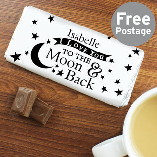 Personalised I Love You To The Moon And Back Milk Chocolate Bar
