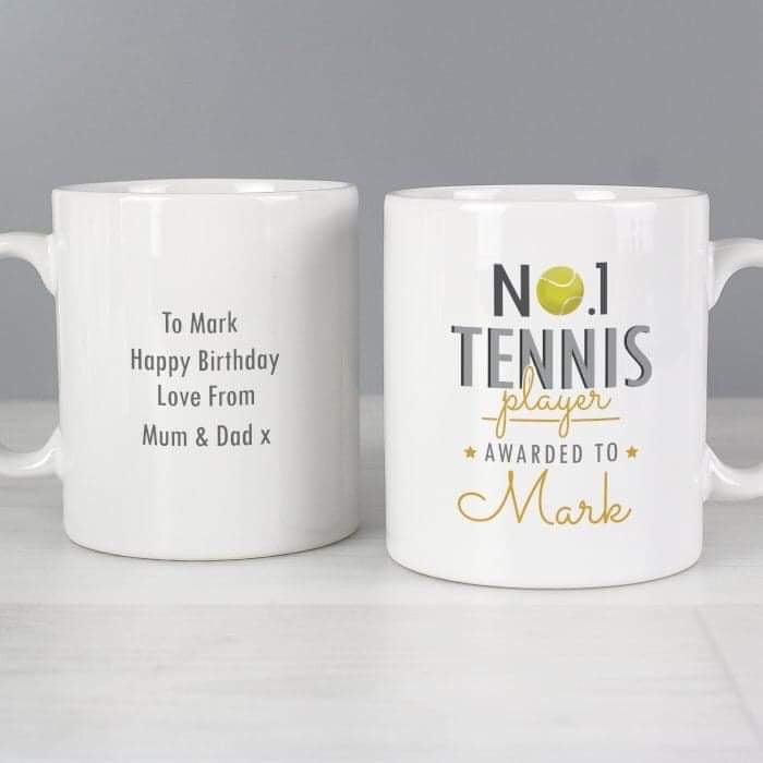Personalised No.1 Tennis Player Mug from Pukkagifts.uk
