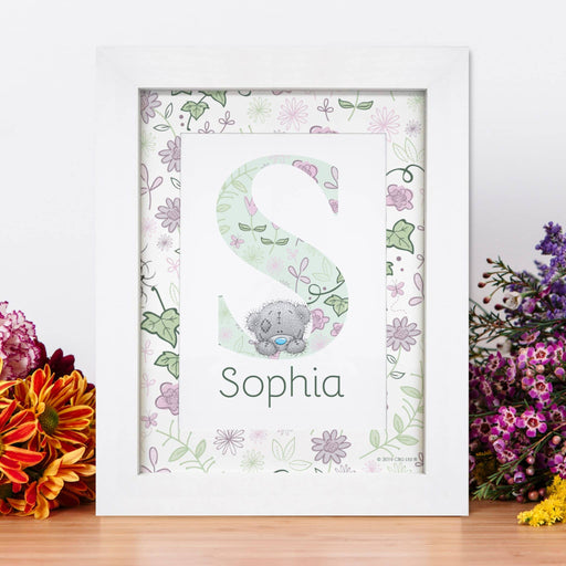 Personalised Me To You Secret Garden Initial Framed Print