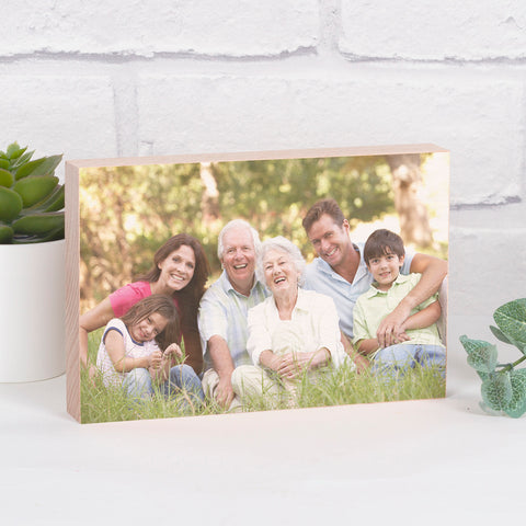 Solid Wooden Beech Photo Block