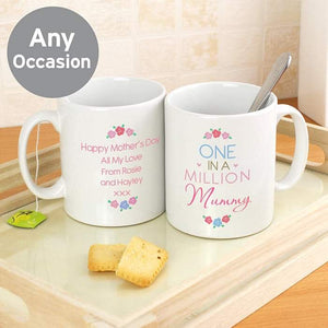 Personalised One in a Million Mug | Gift For Mothers Day | Mum | Grandma | Sister | Friend