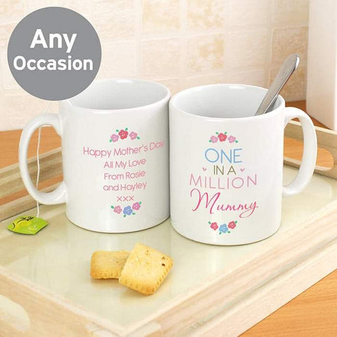 Personalised One in a Million Mug from Pukkagifts.uk