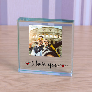I love You Photo Glass Token
