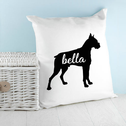 Personalised Boxer Silhouette Cushion Cover from Pukkagifts.uk