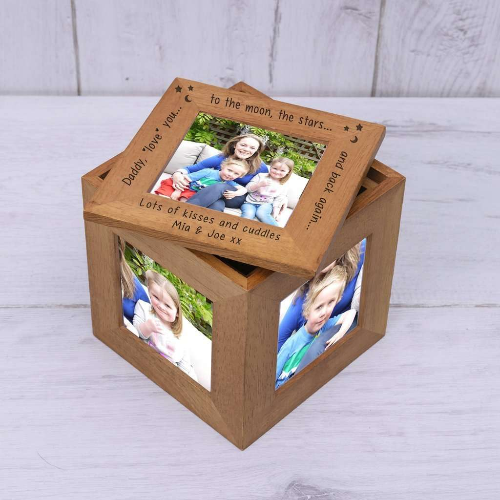 Daddy Love You To The Moon The Stars And Back Again Photo Keepsake Box from Pukkagifts.uk