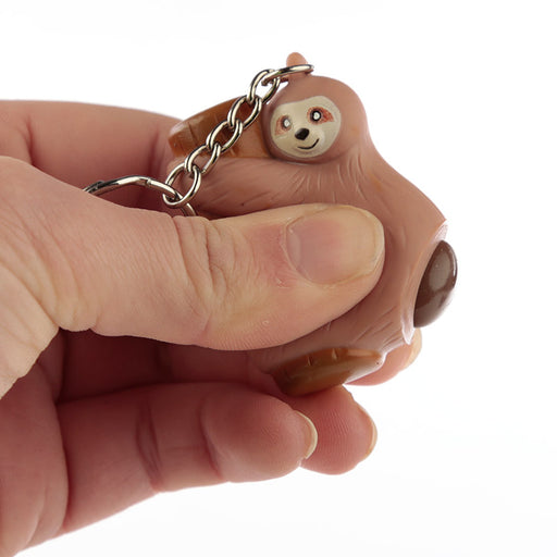 Sloth Poop Keyring - Brown