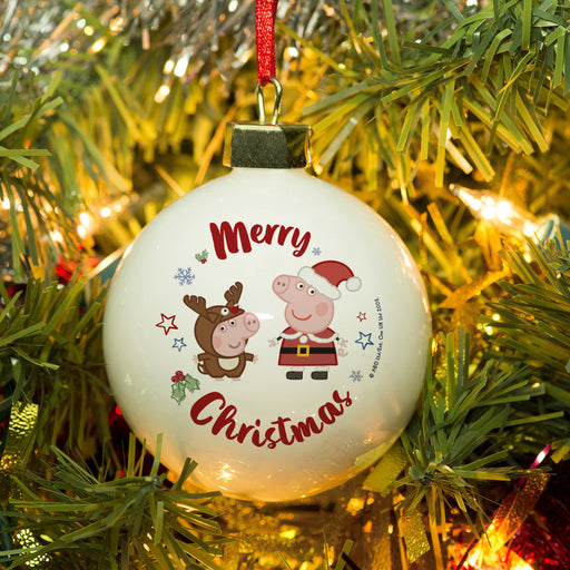 Personalised Peppa Pig & George Pig Bauble