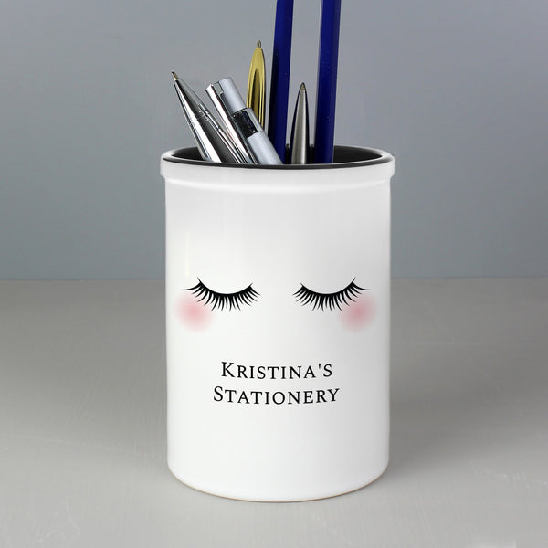 Personalised Eyelashes Ceramic Storage Pot