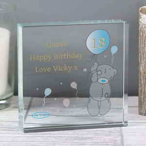 Personalised Me To You Balloon Birthday Large Crystal Token,Pukka Gifts