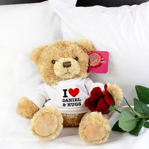 Personalised I Love You Teddy Bear from Pukkagifts.uk