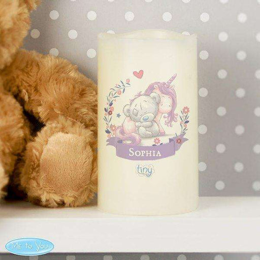 Personalised Tiny Tatty Teddy Unicorn Nightlight LED Candle from Pukkagifts.uk