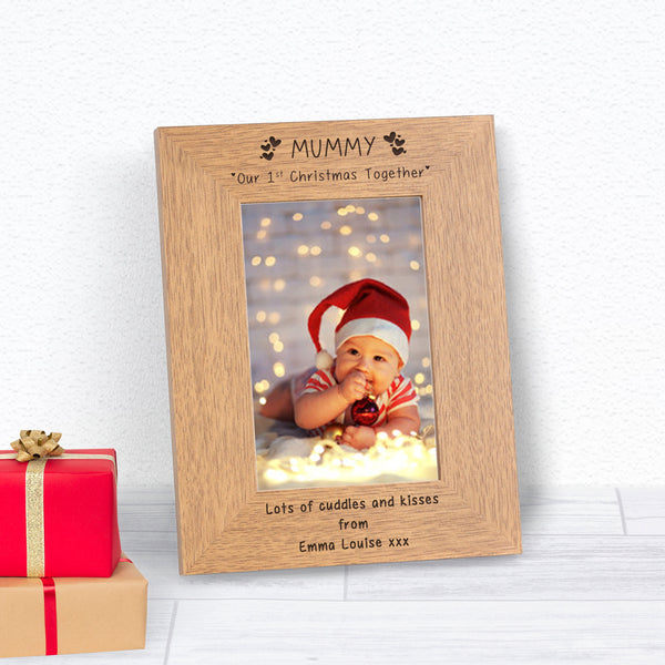 Personalised MUMMY Our 1st Christmas Photo Frame