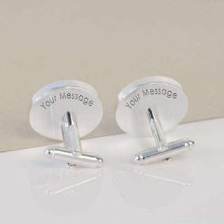 Engraved Hidden Message Cufflinks from Pukkagifts.uk