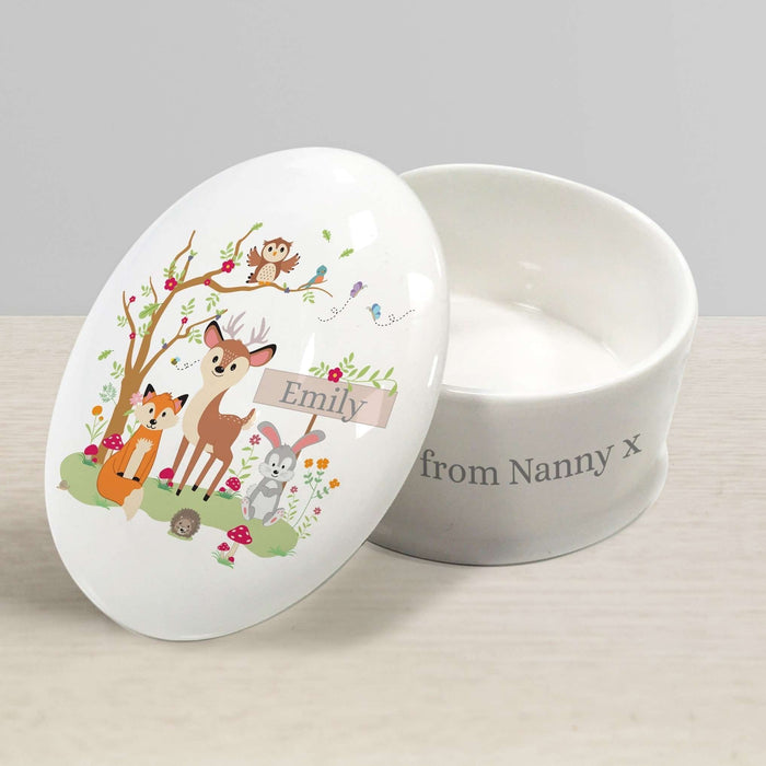 Personalised Woodland Friends Trinket Box from Pukkagifts.uk