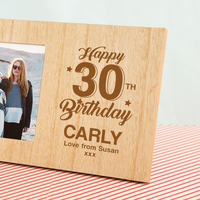 Personalised 30th Birthday Photo Frame