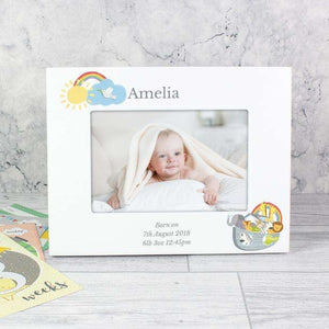 Personalised Engraved Noah's Ark 6x4 White Photo Frame from Pukkagifts.uk
