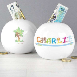 Personalised Boys Animal Money Box from Pukkagifts.uk