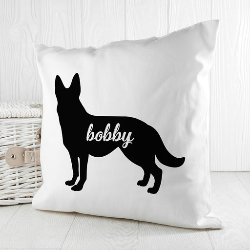 Personalised German Shepherd Silhouette Cushion Cover from Pukkagifts.uk