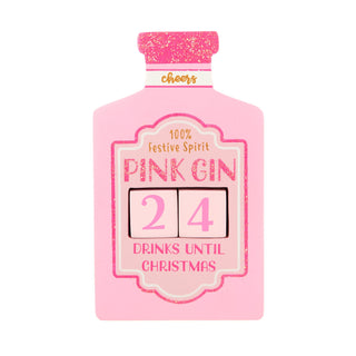 Pink Gin Christmas Countdown Blocks