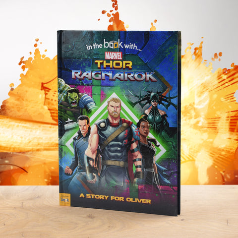 Personalised Thor Ragnarok Marvel Story Book from Pukkagifts.uk