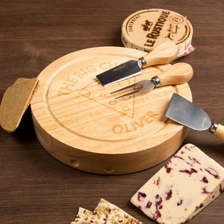 Personalised The Big Cheese Round Cheeseboard Set