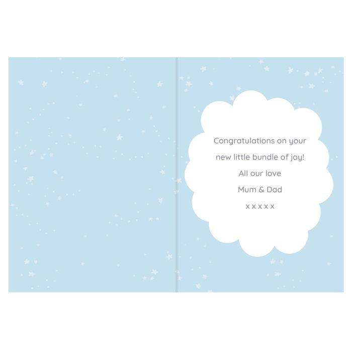 Personalised 10 Little Fingers & 10 Little Toes Baby Boy Card from Pukkagifts.uk