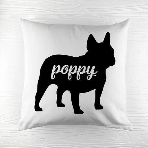 Personalised Bulldog Silhouette Cushion Cover from Pukkagifts.uk