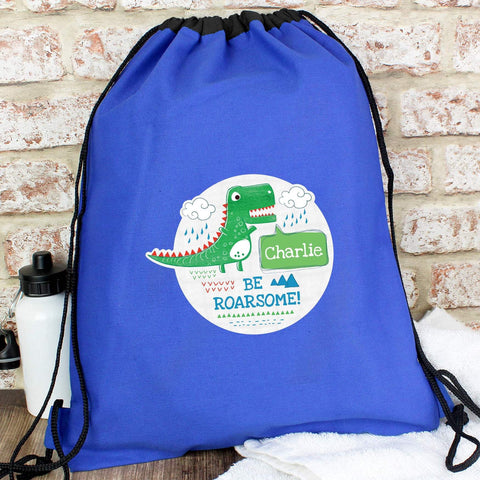 Personalised Be Roarsome Dinosaur Swim & Kit Bag