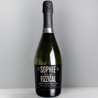 Personalised Let's Get FIZZICAL Prosecco Bottle