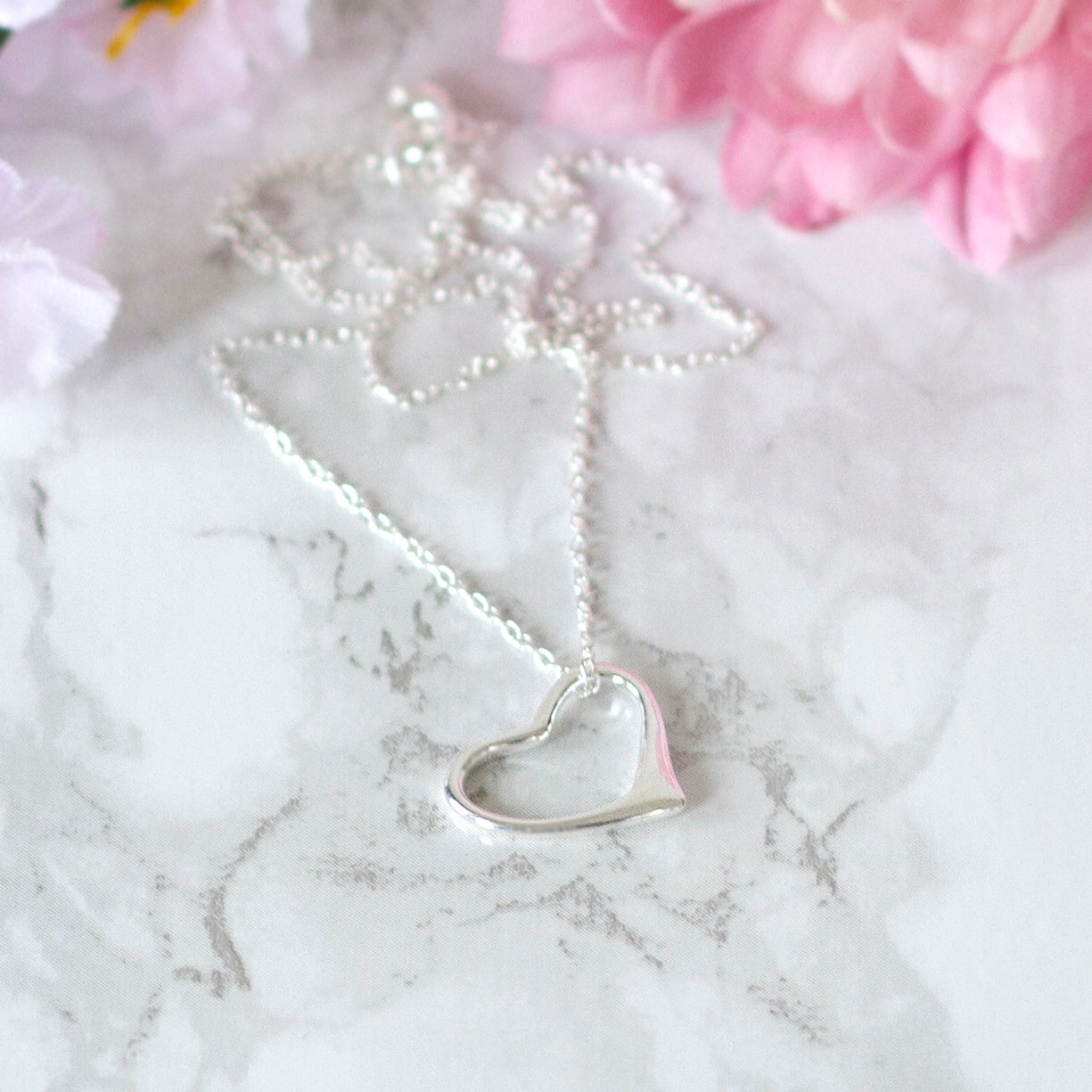 Wedding Party Heart Necklace With Personalised Box