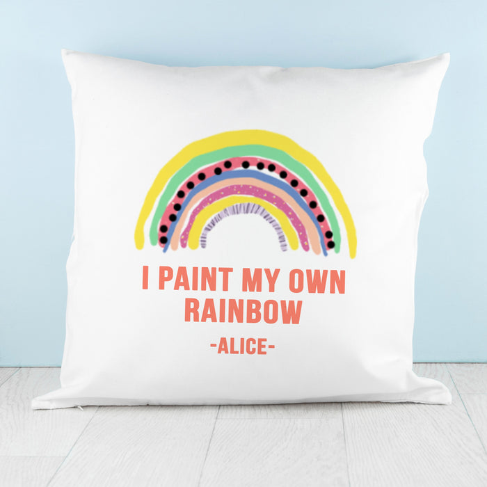Personalised My Own Rainbow Cushion Cover