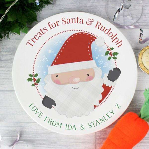 Personalised Santa Claus Christmas Eve Plate from Pukkagifts.uk