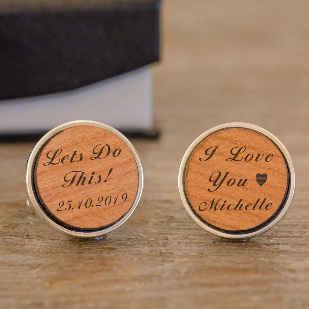 Personalised Lets Do This! Wedding Cufflinks from Pukkagifts.uk