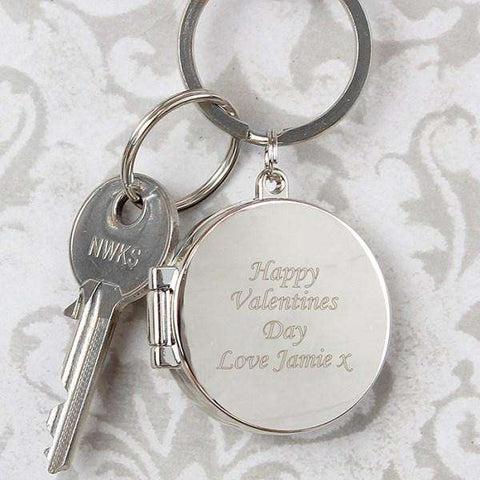 Personalised Round Photo Locket Keyring,Pukka Gifts