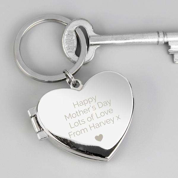 Personalised Heart Photo frame Keyring from Pukkagifts.uk