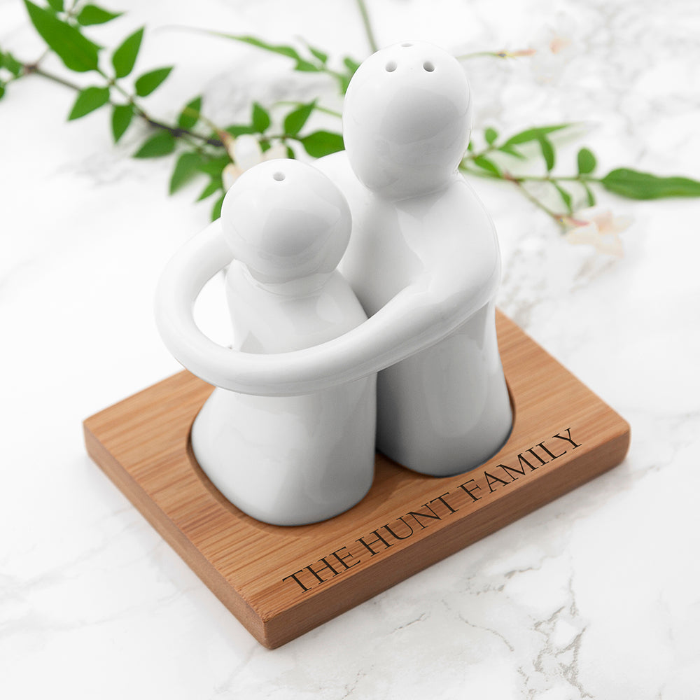 Personalised Hugging Salt And Pepper Set from Pukkagifts.uk