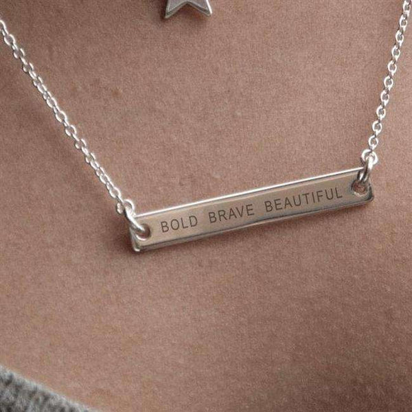 Personalised Bar Sterling Necklace from Pukkagifts.uk