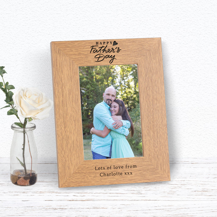Personalised Happy Father's Day Photo Frame from Pukkagifts.uk