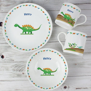 Personalised Dinosaur Breakfast Set from Pukkagifts.uk