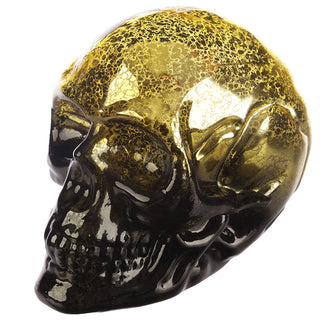 Small Two Tone Black & Gold Metallic Skull Shaped LED light