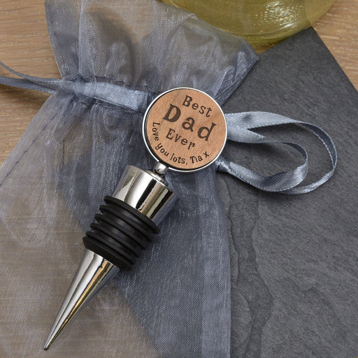 Personalised Best Dad Ever Bottle Stopper