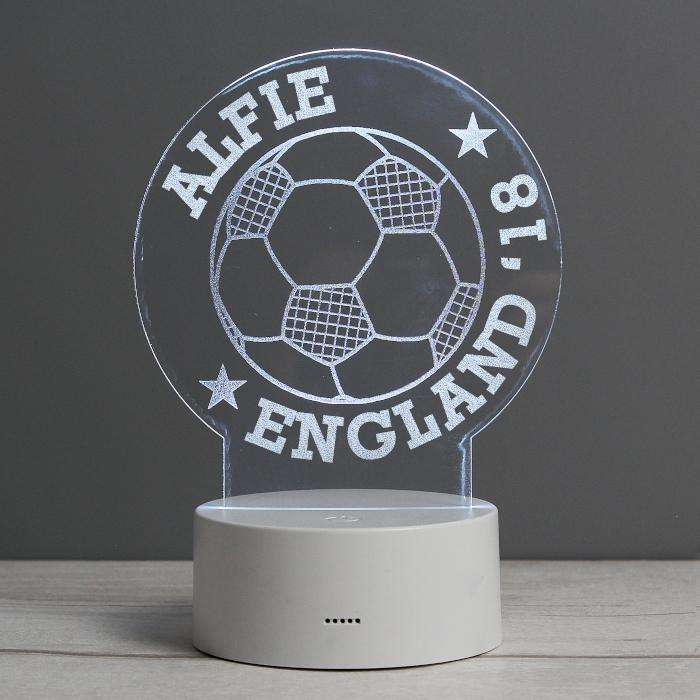 Personalised Football Night Light from Pukkagifts.uk