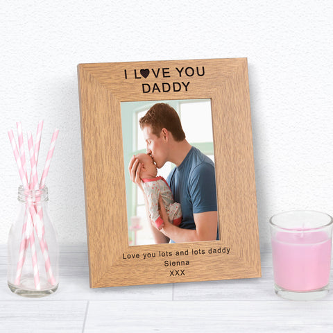 Personalised I Love You Daddy Photo Frame from Pukkagifts.uk