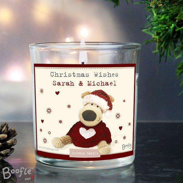 Personalised Boofle Christmas Love Scented Jar Candle from Pukkagifts.uk
