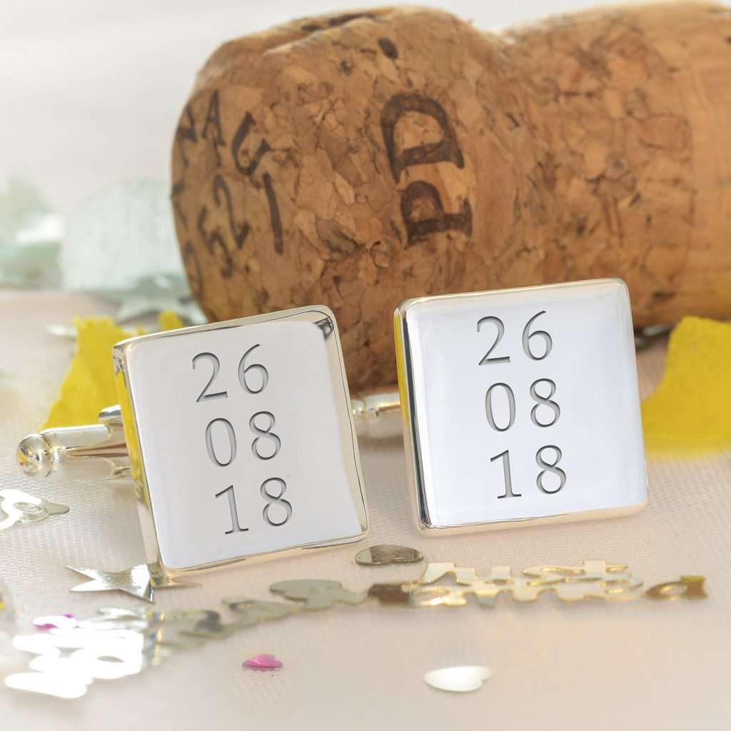 Personalised Special Date Engraved Cufflinks from Pukkagifts.uk