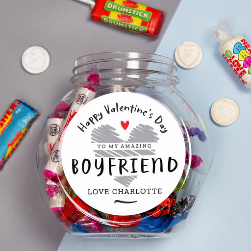 Personalised Valentine's Day Sweet Jar