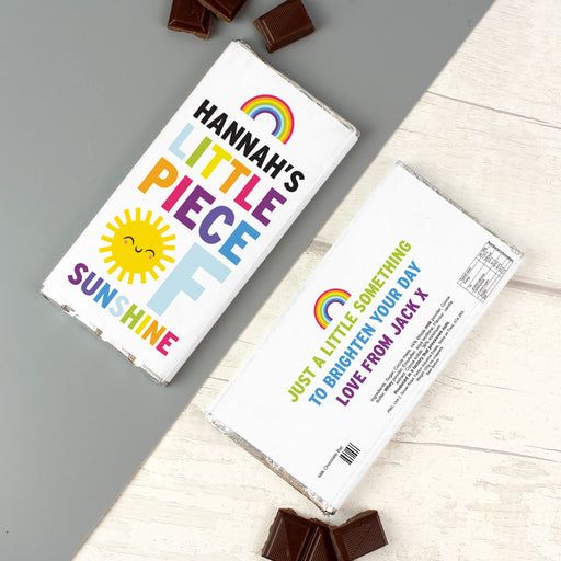 Personalised Rainbow Sunshine Milk Chocolate Bar