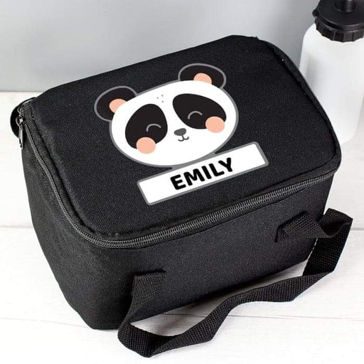 Personalised Panda Black Lunch Bag from Pukkagifts.uk