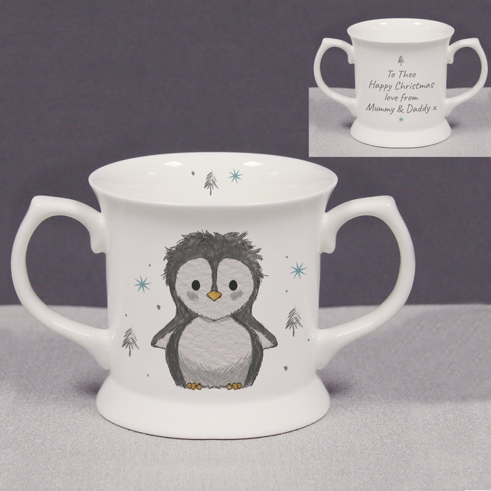 Personalised Pebbles the Penguin Christmas Loving Cup from Pukkagifts.uk