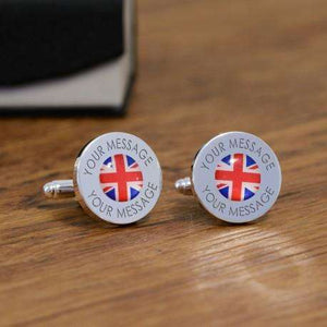 Personalised Union Jack Flag Cufflinks from Pukkagifts.uk